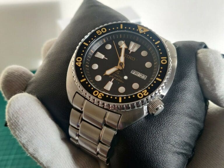 Seiko Baby Turtle Review close up