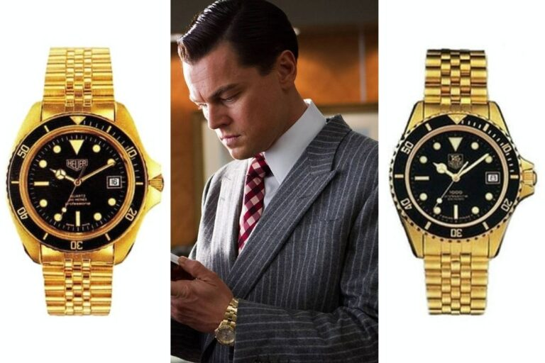 Wall Street DiCaprio gold watch